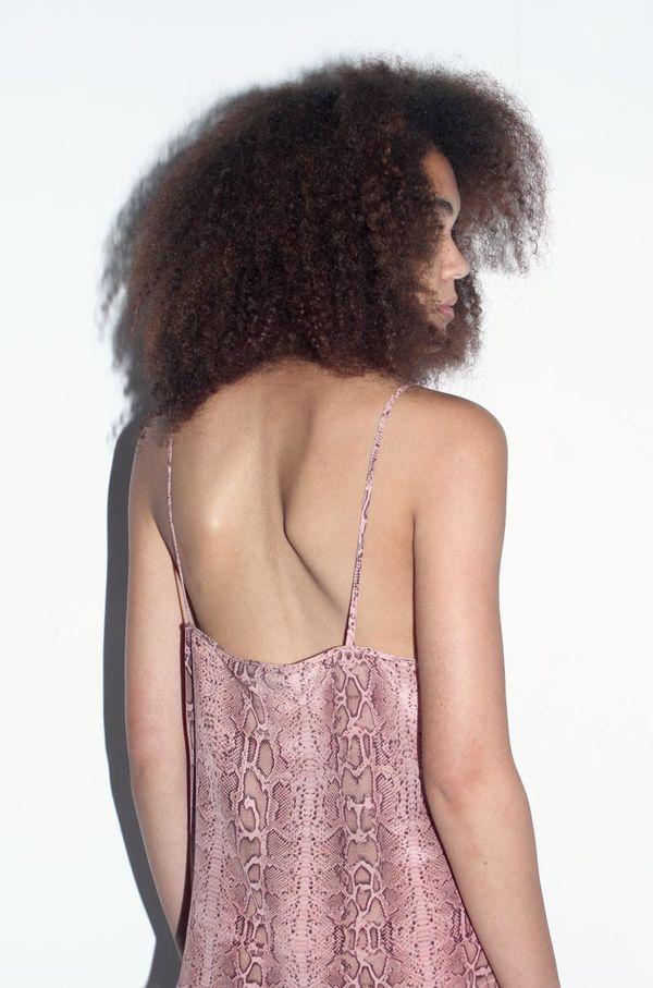 Strathcona Pink Snake Skin Silk Camisole