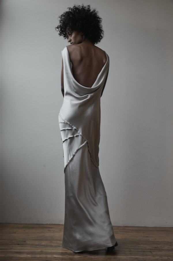 KES Elongated Recycled Wave Dress