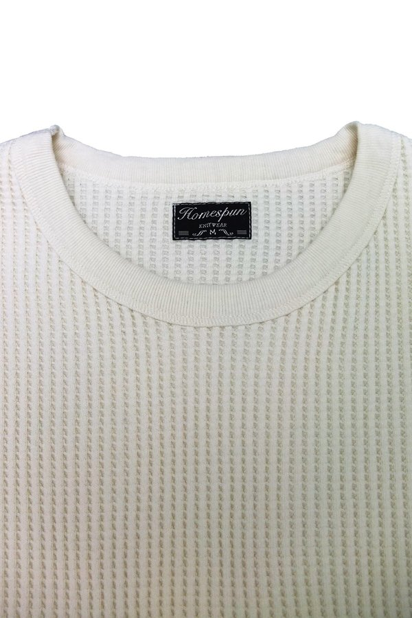 Homespun Knitwear Crew Thermal - Antler White