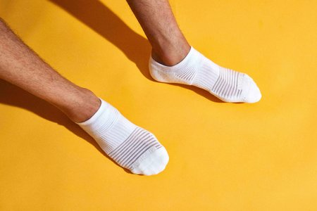 Mr. Gray Mesh Paneling Sock - Gray + Black