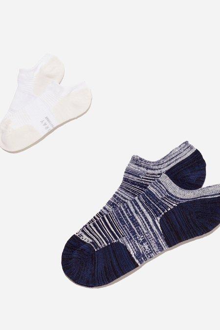 Mr. Gray Mesh Paneling Sock - White + Navy