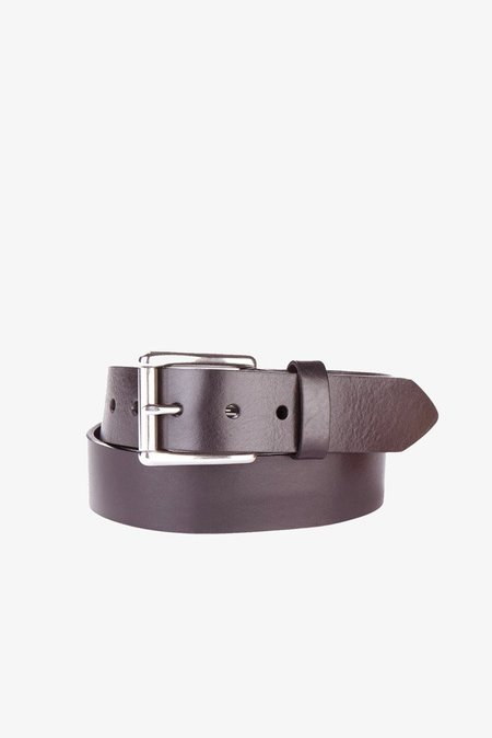 Brave Leather Classic Belt in Dark Brown Milled