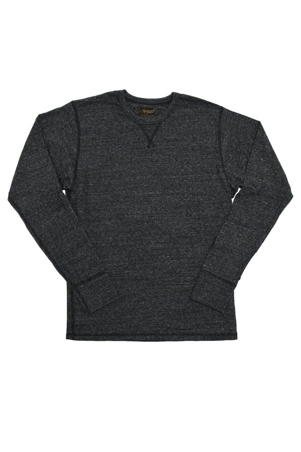 National Athletic Goods Long Sleeve Gym Tee - Black Heather