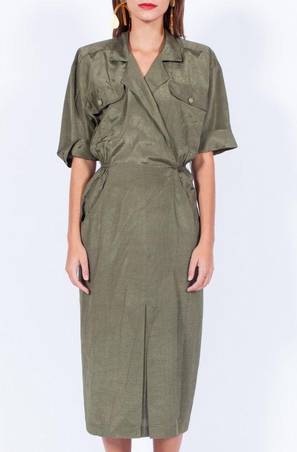 Yo Vintage! Khaki Dress - Small/Med