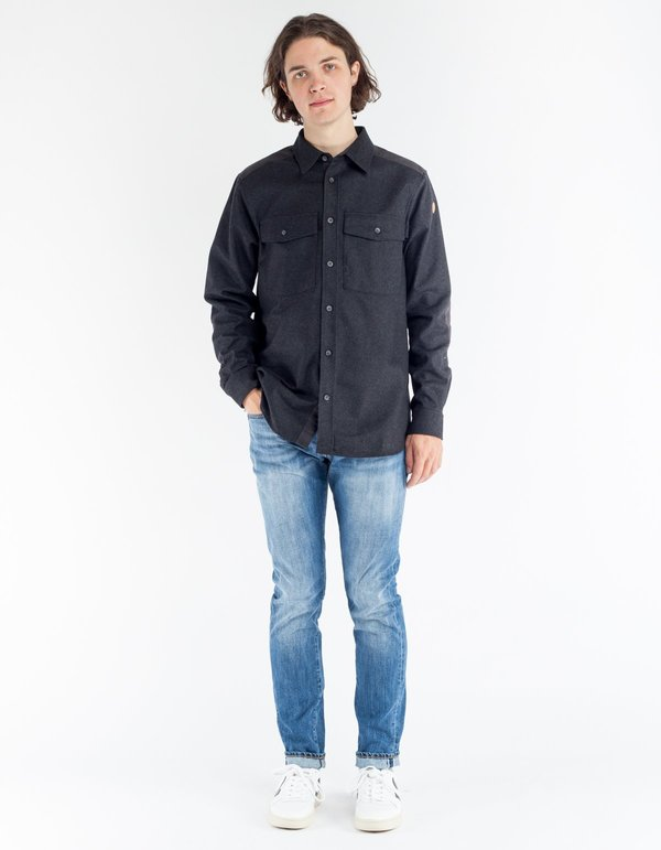 Fjallraven Ovik Re Wool Shirt LS Dark Grey