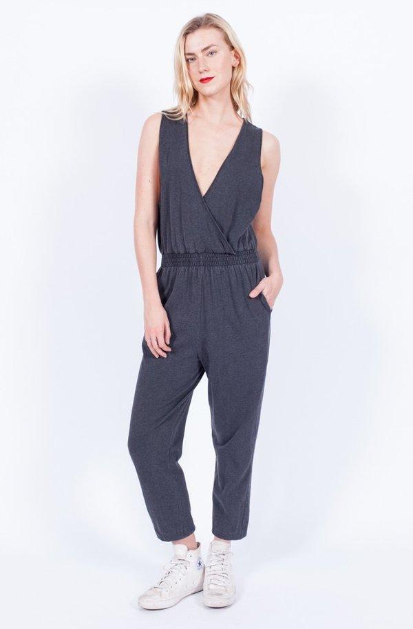 Yo Vintage! Grey Jersey Jumpsuit - Med/Large