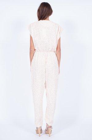 Yo Vintage! Blush Printed Jumpsuit - Small/Med