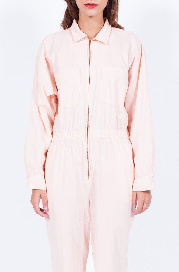 Yo Vintage! Blush Zipper Jumpsuit - Med