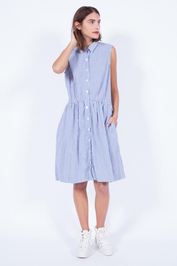 STRIPED COTTON DRESS (MED)