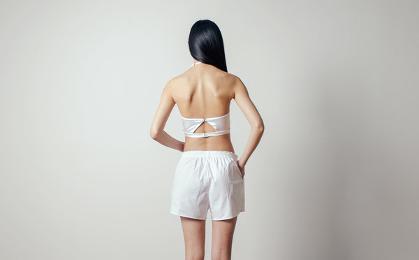 PRAE Morris Shorts in White