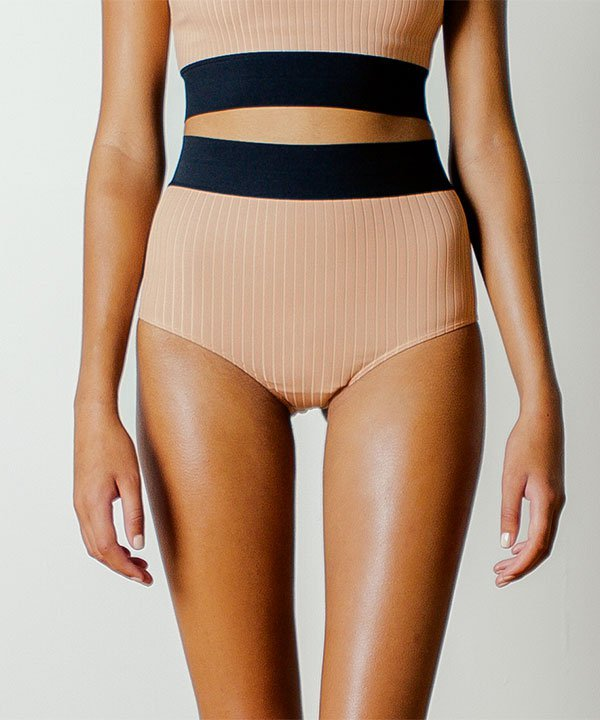 NOE Rae Mid-Rise Brief in Taupe
