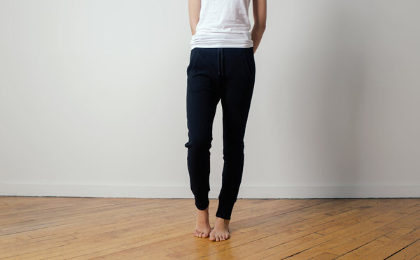 The White Briefs Camrose Pants in Black