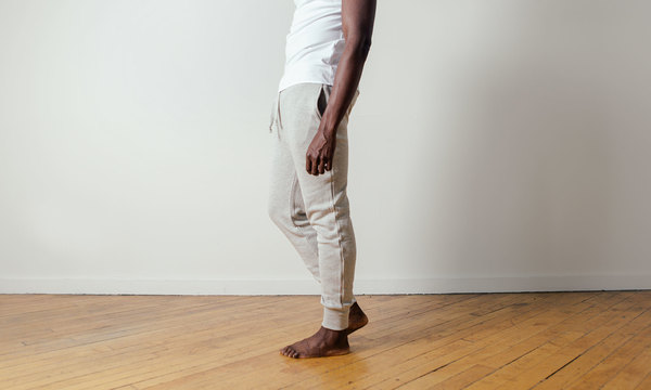 The White Briefs Charger Jogging Pants in Grey Melange