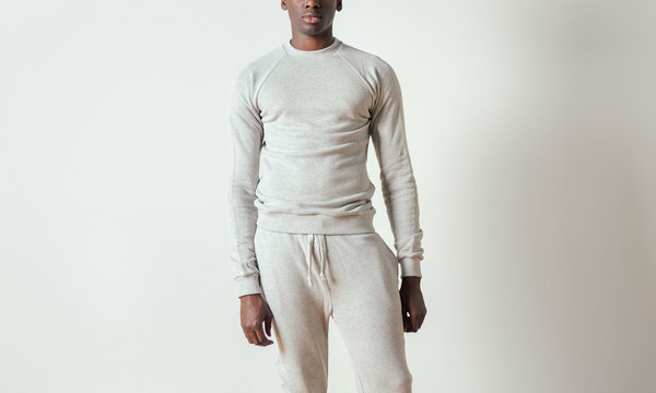 The White Briefs Champion Sweatshirt in Grey Melange