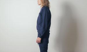 The White Briefs Sal Sweatshirt in Ink Blue