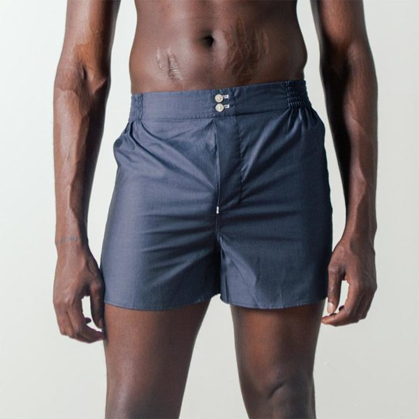 Hamilton & Hare The Boxer Short in Blue Chip