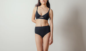 The Nude Label Cut-out Bra in Black