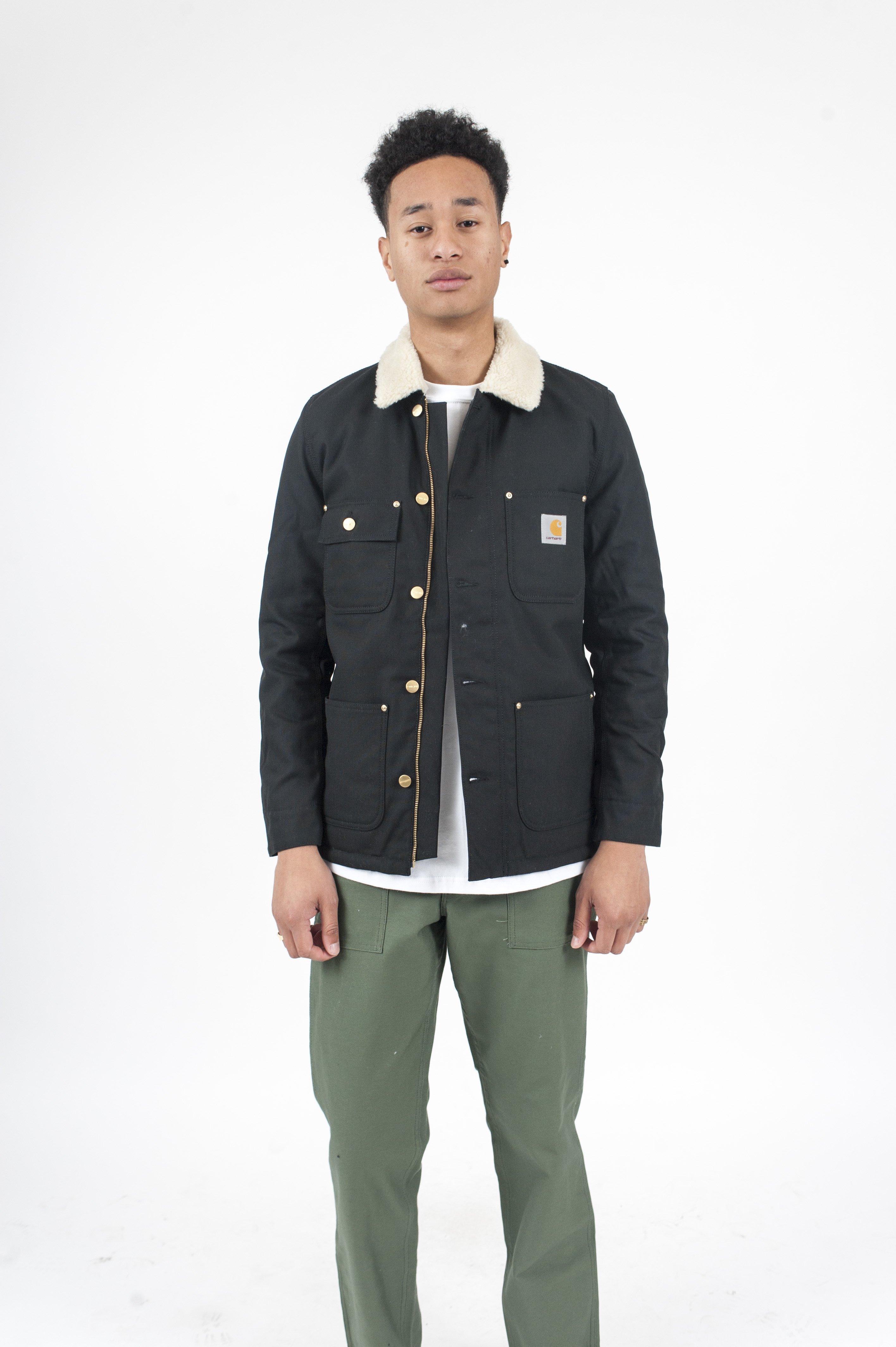 f2117b06ab3d1 CARHARTT WIP Phoenix Shearling Jacket - Black | Garmentory