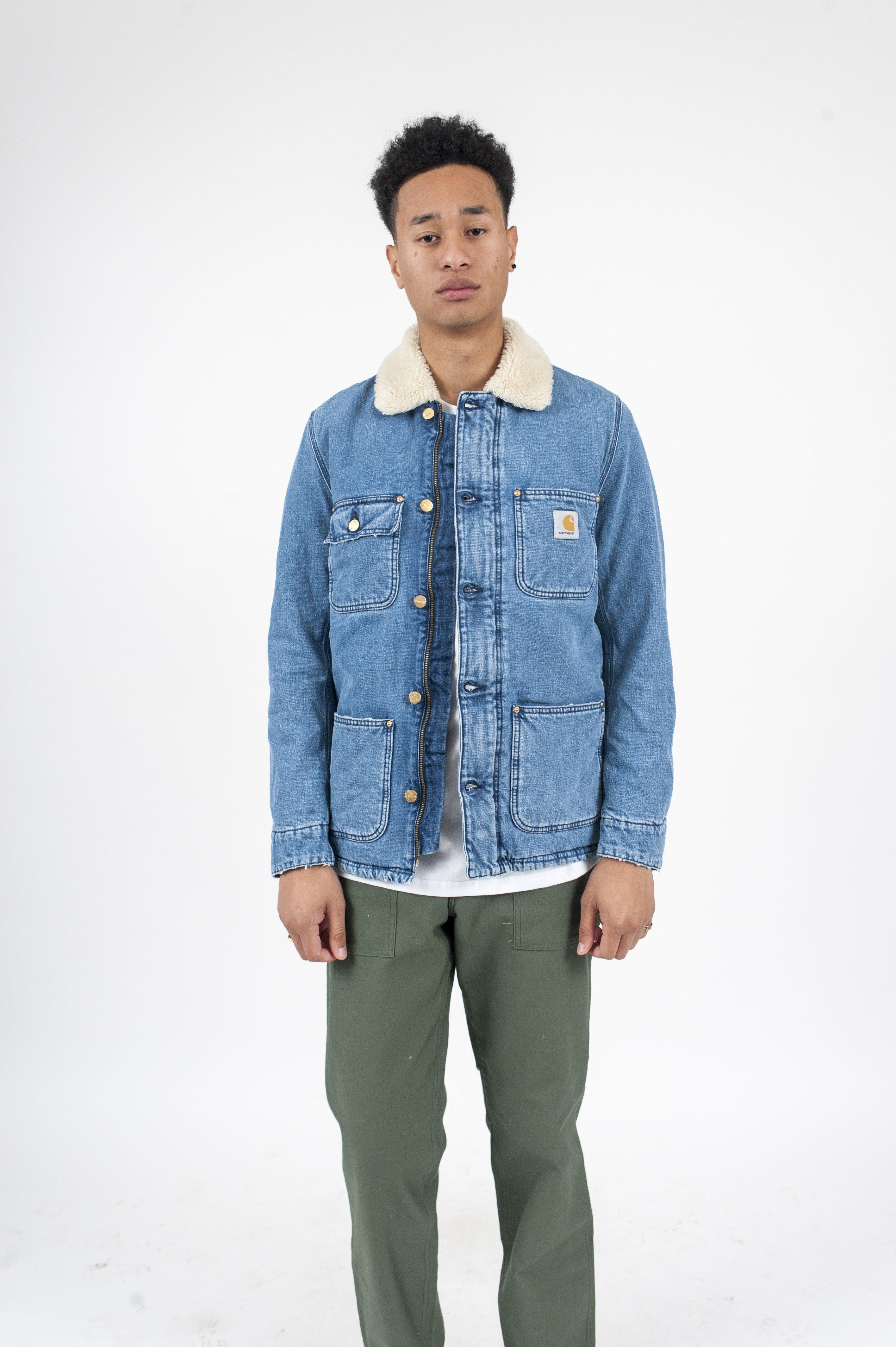 1476de96e20a2 CARHARTT WIP Phoenix Shearling Jacket - Denim | Garmentory