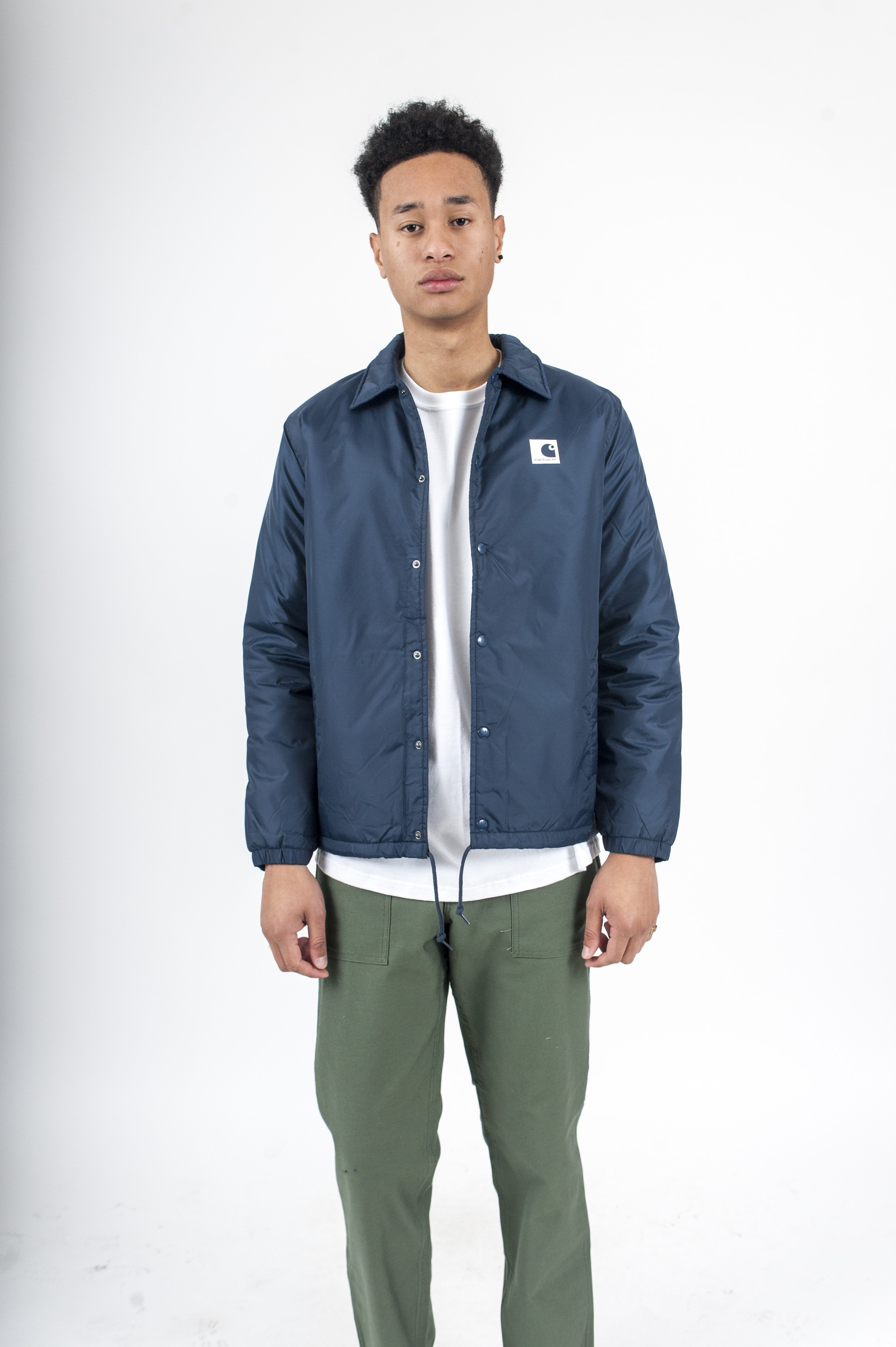 where to buy san francisco speical offer Sports Pile Coach Jacket Navy