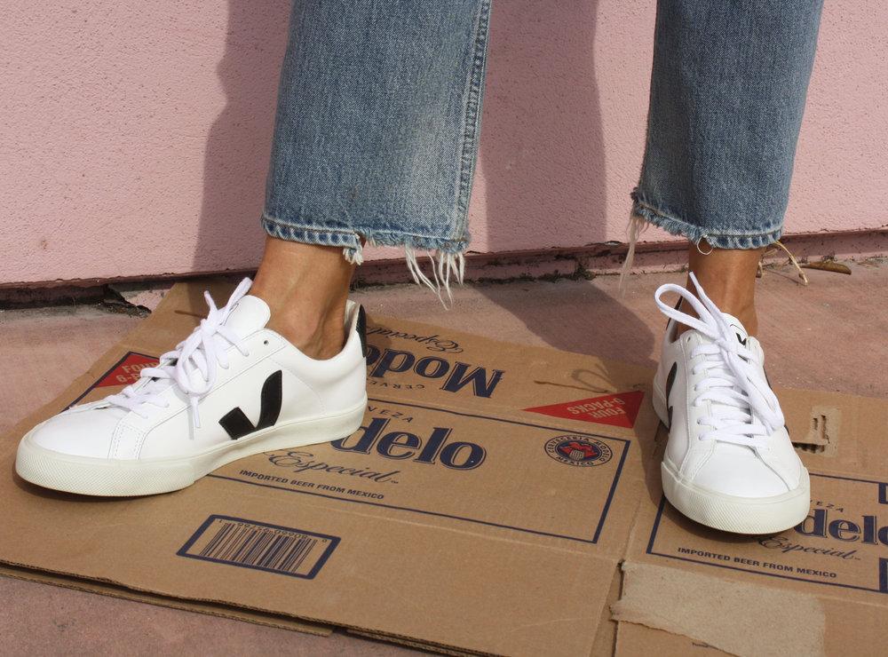 Veja Esplar Leather White Black Sneakers Garmentory