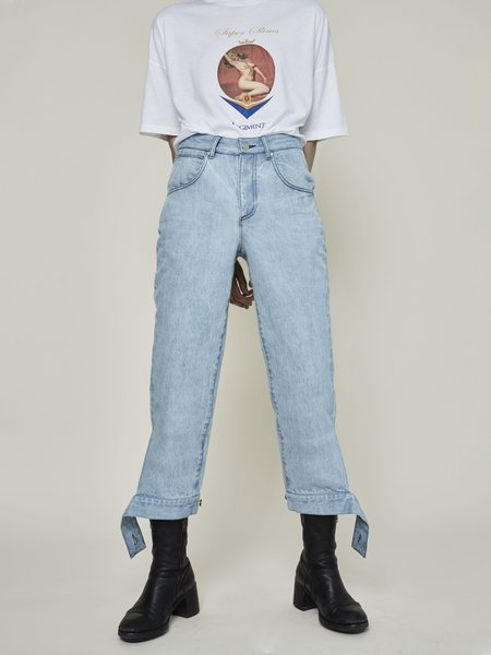 Rask Cuff Tie Pant - LIGHT BLUE
