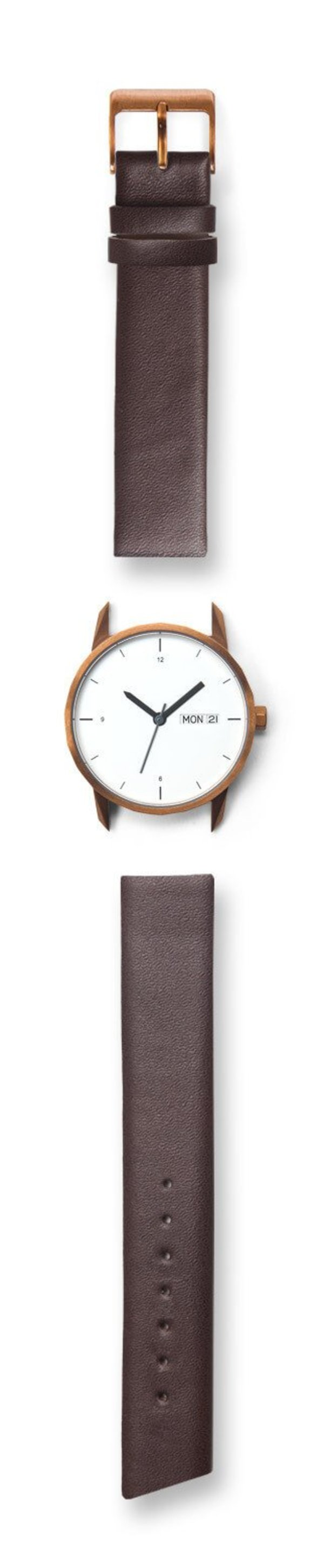 Tinker Watches 34mm Copper Watch Brown Strap