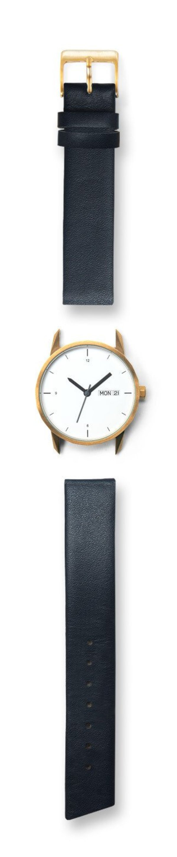 Unisex Tinker Watches 34mm Gold Watch Navy Strap