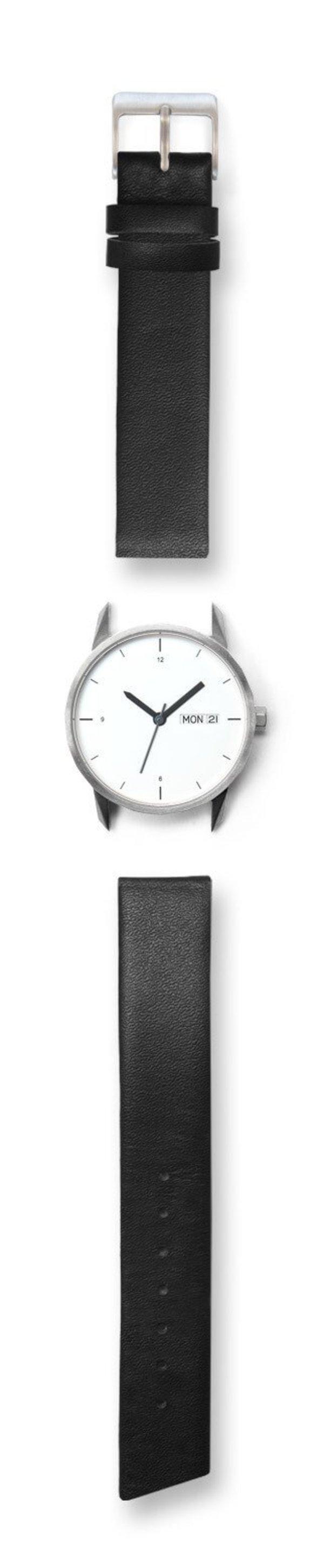 Unisex Tinker Watches 34mm Silver Watch Black Strap