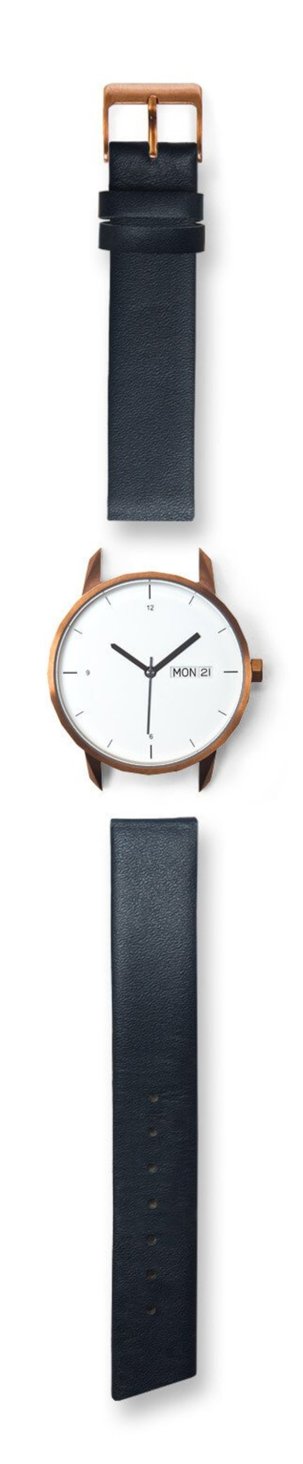 Tinker Watches 38mm Copper Watch Navy Strap