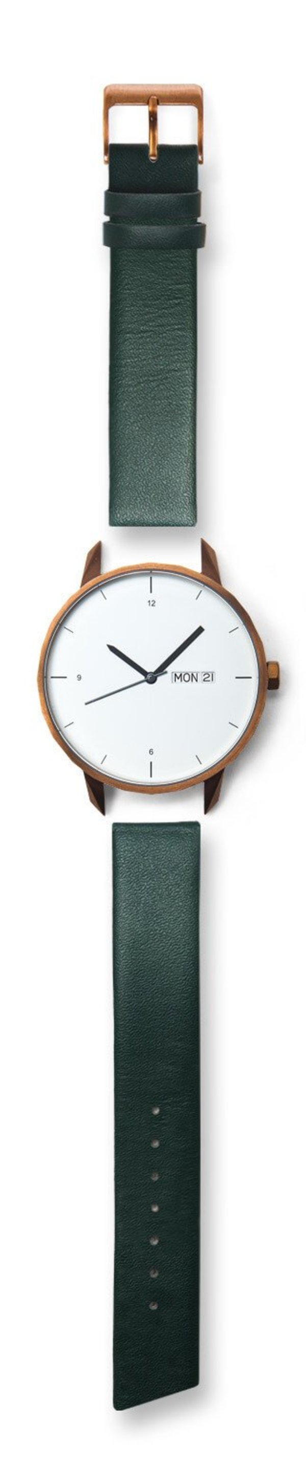 Tinker Watches 42mm Copper Watch Green Strap