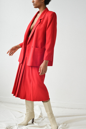 Either, And Vintage Poppy Pleated Two Piece Set