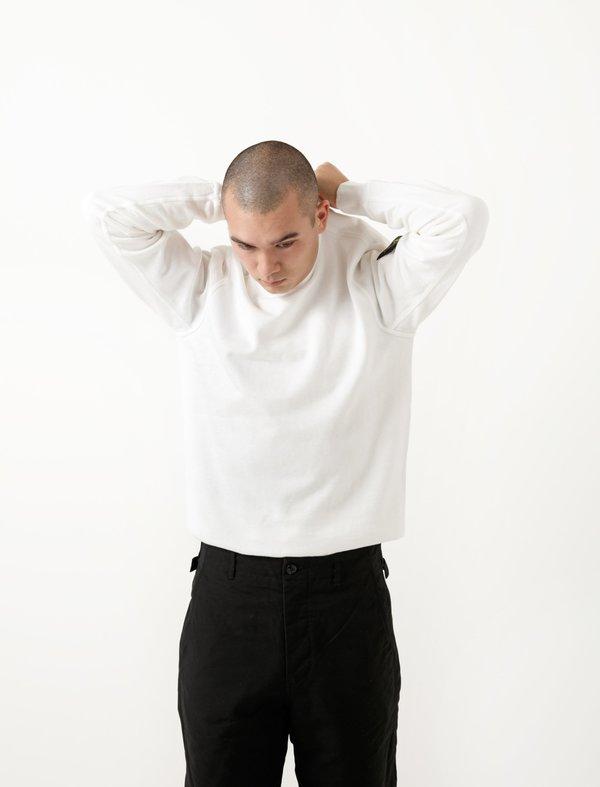 Stone Island Crewneck Sweatshirt - Fleece White