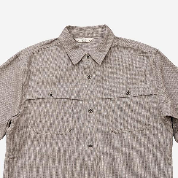 e012e2fae57 3Sixteen Hunting Shirt - Grey Herringbone Flannel. sold out. 3Sixteen