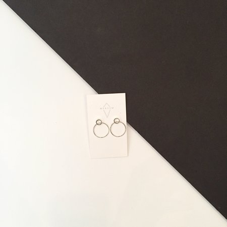 Maksym Boaa Earrings - Silver