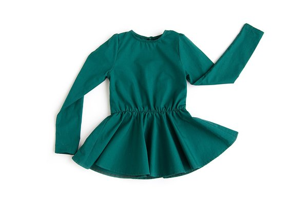 Kids Telegraph Ave Keyhole Dress - Emerald
