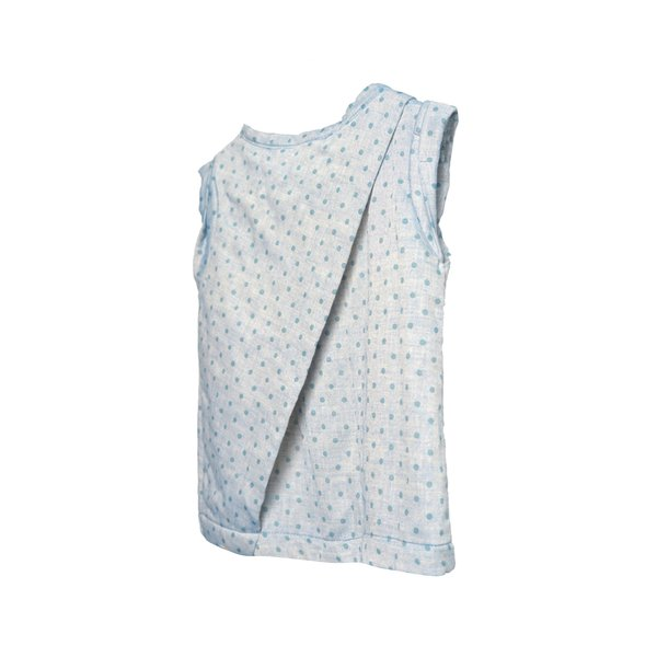 LIMITED EDITION Vented Vest Blue Dotted Cotton