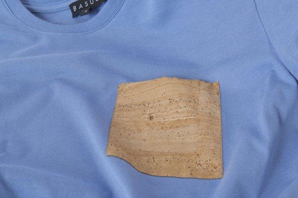 Basus T-Shirt Full Pocket - Middle Blue