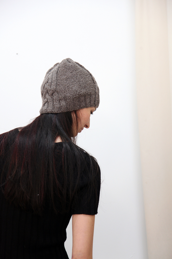 7a9e7621e12 Kordal Cable Knit Hat - Fog Grey
