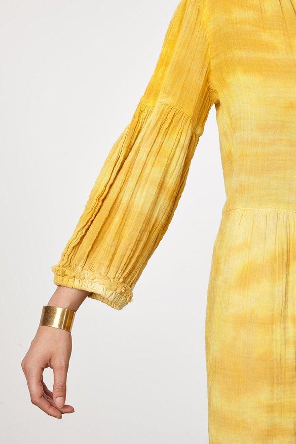 Raquel Allegra DANDELION GAUZE PEASANT DRESS