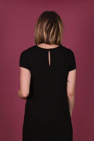 Birds of North America Petrel Dress - Black
