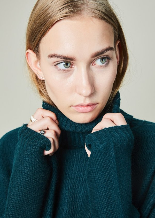 Manuelle Guibal Yam Cashmere Turtleneck Sweater