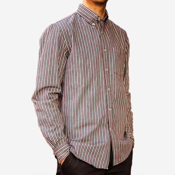 Bon Vivant Gino Shirt - Hickory Stripe