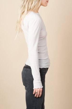 Baserange Oki Long Sleeve Soft Wool Jersey In Concrete Grey