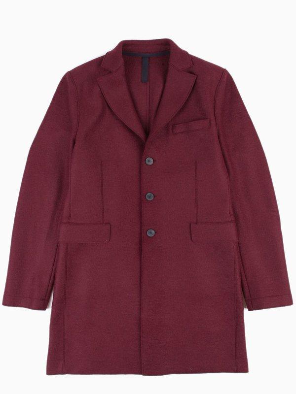 Harris Wharf Chester Coat Pressed Wool - Cinabre