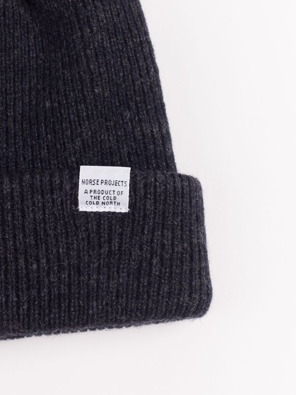 9f6285a6744 Norse Projects Norse Beanie - Charcoal Melange