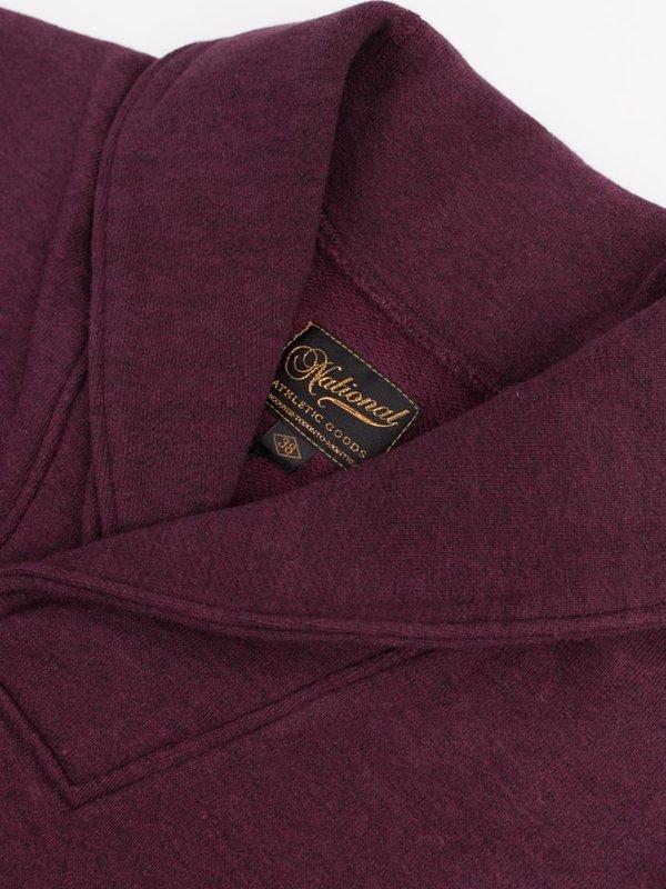 National Athletic Goods Shawl Pullover 11oz Fleece - Wine