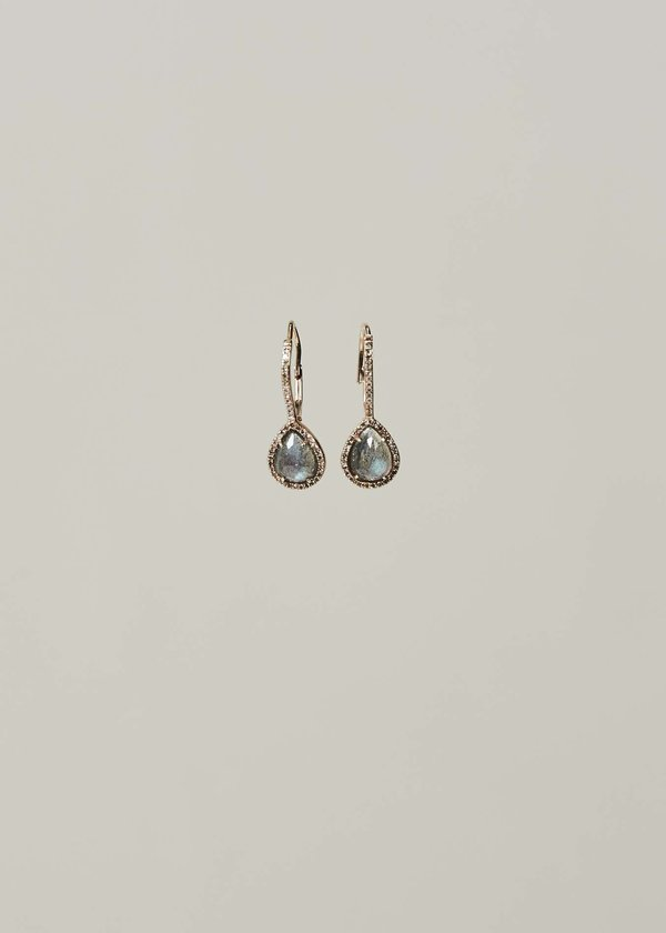 Jewels by Piper Diamond and Labradorite Drop Earrings