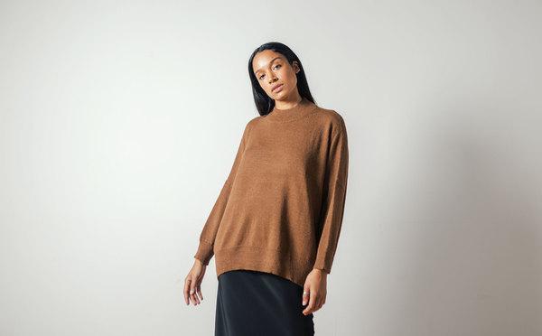 Pari Desai Inez Oversized Sweater in Ginger