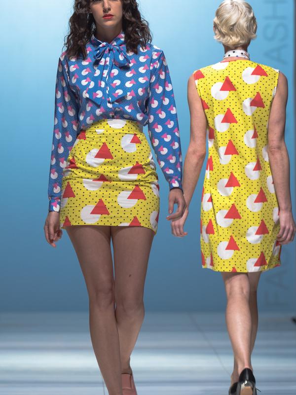 One Imaginary Girl Geometric Printed Vest Dress